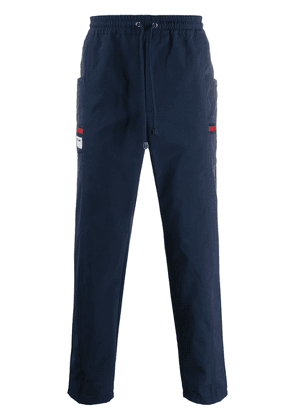 Gucci logo patch track pants - Blue