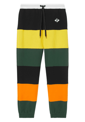 Burberry colour-block striped track pants - Yellow