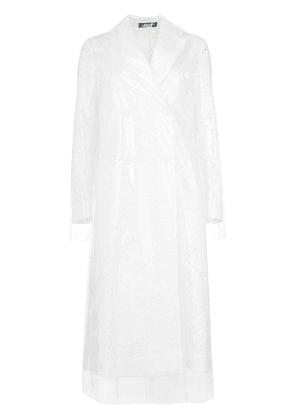 Calvin Klein 205W39nyc broderie anglaise trench coat - White