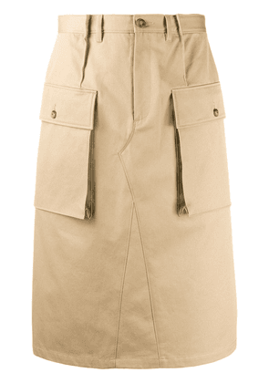 Maison Margiela knee-length cargo skirt - NEUTRALS