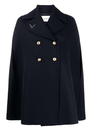 Valentino VGOLD double-breasted cape - Blue