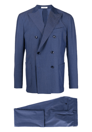 Boglioli double-breasted two-piece K-Suit - Blue