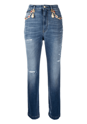 Dolce & Gabbana high-waisted cropped jeans - Blue
