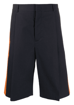 Valentino contrast panel tailored shorts - Blue