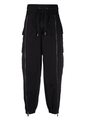 Dolce & Gabbana zipped tapered track pants - Black