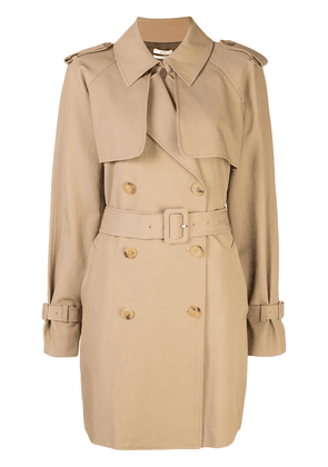 Co double-breasted trench coat - NEUTRALS