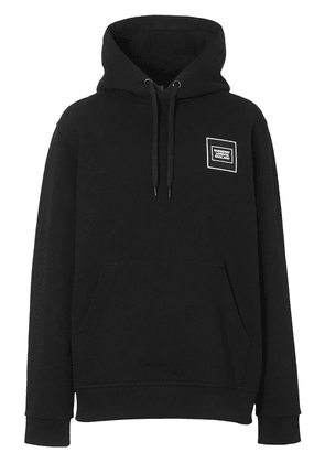 Burberry logo patch hoodie - Black