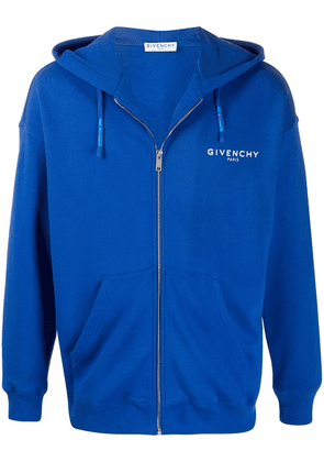 Givenchy Calligraphic zipped hoodie - Blue