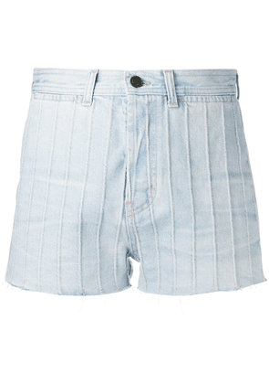 Saint Laurent high waist denim shorts - Blue