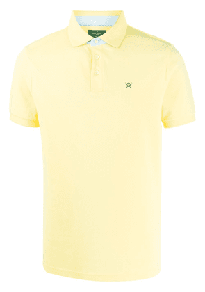 Hackett logo embroidered polo shirt - Yellow