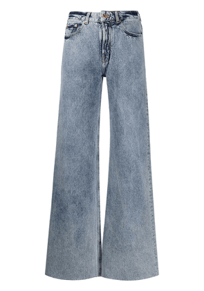 Filles A Papa Romeo heat-patch flared jeans - Blue