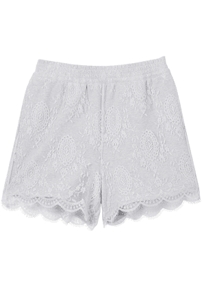 Burberry lace overlay cotton shorts - Grey