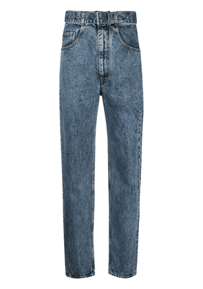 Maison Margiela high-waist belted jeans - Blue