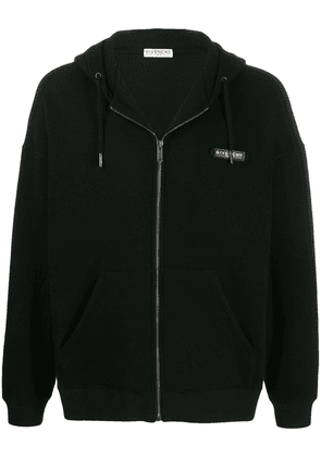 Givenchy logo patch zipped hoodie - Black