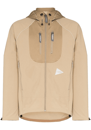 and Wander hooded track jacket - Brown