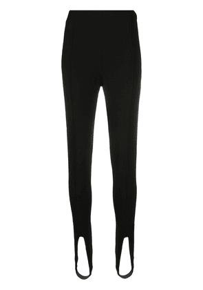 Saint Laurent high-waist stirrup leggings - Black
