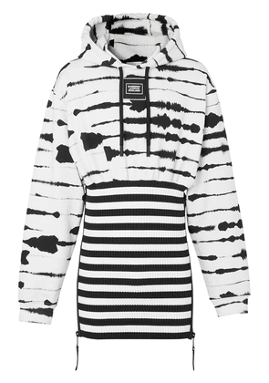 Burberry reconstructed watercolour print hoodie - White