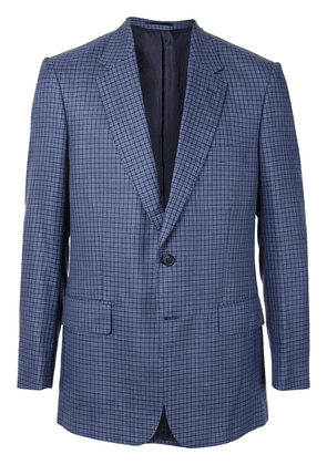 Gieves & Hawkes single-breasted fitted blazer - Blue