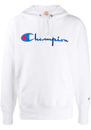 Champion embroidered logo hoodie - White