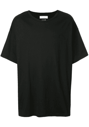 Facetasm striped patch T-shirt - Black