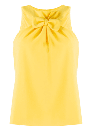 Boutique Moschino front bow top - Yellow