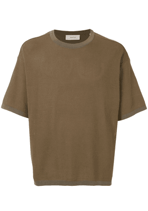 Cerruti 1881 textured crew neck T-shirt - Brown