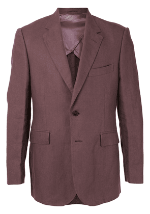 Gieves & Hawkes single-breasted fitted blazer - PURPLE