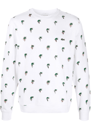 Lacoste x Jean-Michel Tixier all over logo sweatshirt - White