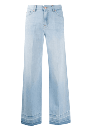 7 For All Mankind wide-leg flared jeans - Blue