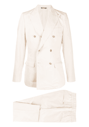 Dolce & Gabbana double-breasted casual suit - NEUTRALS