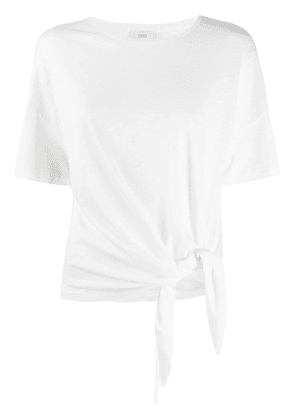 Closed knotted crew neck T-Shirt - White