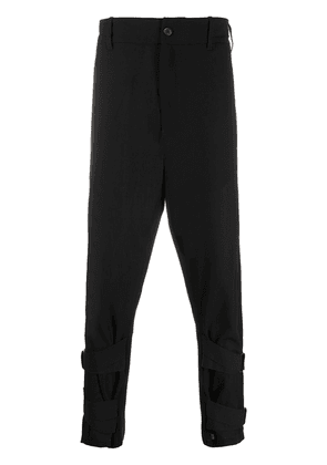 Ann Demeulemeester strap ankle trousers - Black