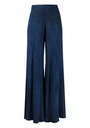 Avant Toi pleated wide-leg trousers - Blue