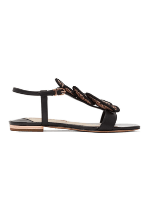 Sophia Webster Black Patent Riva Sandals