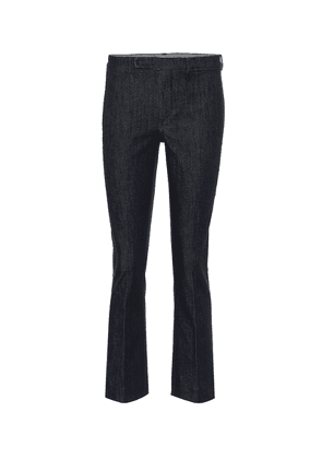 Mid-rise slim-fit stretch jeans