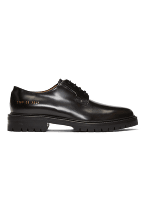 Common Projects Black Leather Derbys
