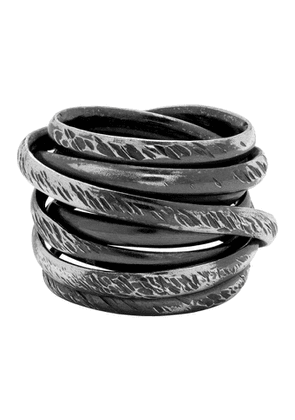 Chin Teo Silver Cage Scarred Ring