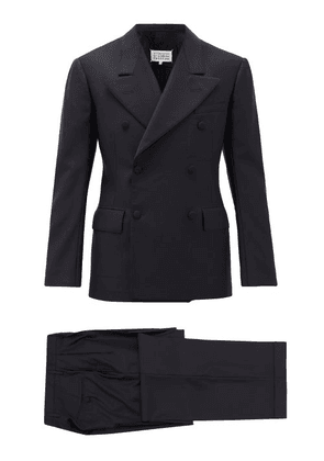 Maison Margiela - Double-breasted Cotton-twill Suit - Mens - Navy
