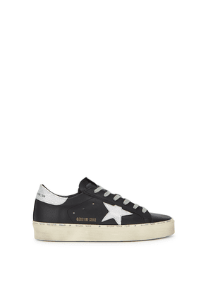 Golden Goose Deluxe Brand Hi Star Black Leather Sneakers