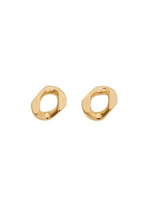 Burberry Small Gold-plated Chain-link Earrings
