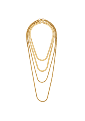 FALLON Monarch Gold-plated Layered Necklace