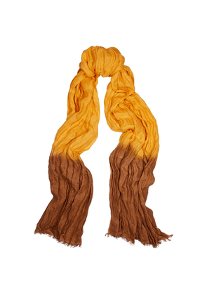 Denis Colomb Froisse Dip-dyed Silk Scarf