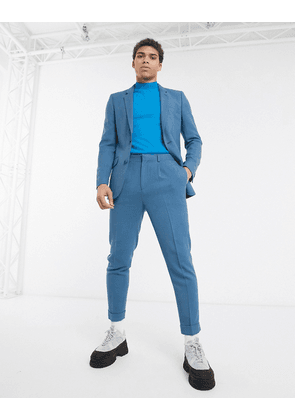 ASOS DESIGN tapered suit trousers soft teal-Blue