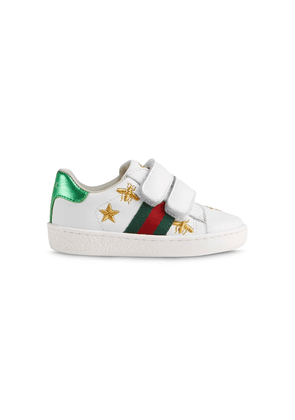 Gucci Kids Ace touch-strap sneakers - White