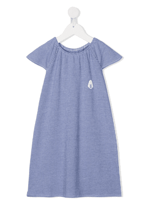 Douuod Kids striped midi dress - White