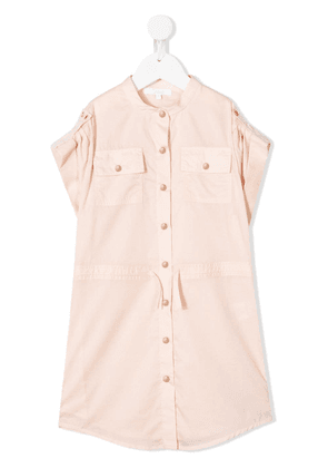 Chloé Kids button-up dress - PINK