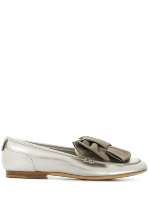 AGL bow embellished loafers - Metallic