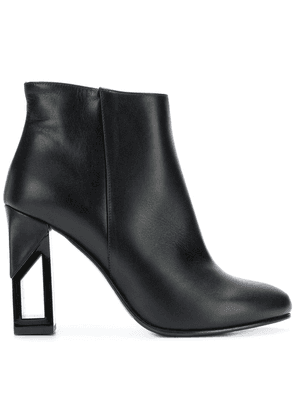 Albano chunky-heel ankle boots - Black
