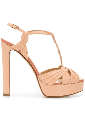 Francesco Russo strappy T-bar sandals - NEUTRALS