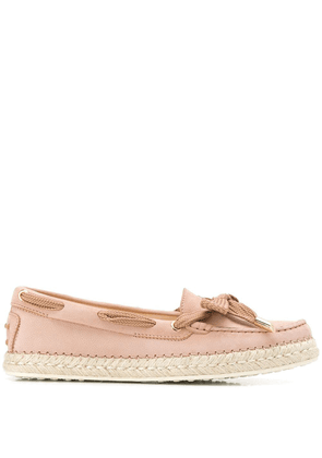 Tod's lace detail loafers - PINK